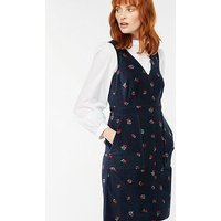 Monsoon Kelly Cherry Print Cord Dress - Navy , Navy, Size 12, Women