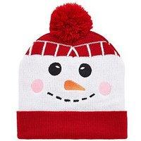 V by Very Boys Snowman Pom Pom Christmas Hat - Multi, Multi, Size 3-24 Months