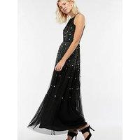 Monsoon Natalie Embellished Scatter Maxi Dress - Black