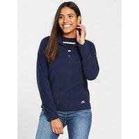 Trespass Shiner 1/4 Zip Fleece - Navy , Navy, Size M, Women