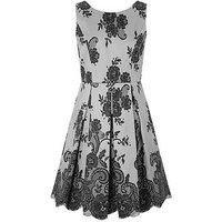 Monsoon Barcelona Sparkle Dress, Grey, Size 14 Years, Women