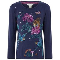 Monsoon Asteria T-shirt, Navy, Size Age: 5-6 Years, Women