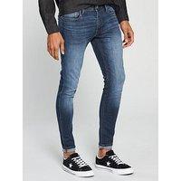 Jack & Jones Super Skinny Fit Tom Jeans, Blue, Size 32, Length Short, Men