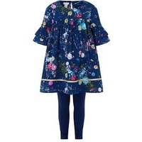 Monsoon Otillie Unicorn Set, Navy, Size Age: 7 Years, Women