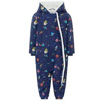 Monsoon Space Print Snowsuit, Blue, Size Age: 6-12 Months