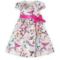 Monsoon Baby Anastasia Jacquard Dress, Multi, Size 3-6 Months