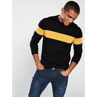 Selected Homme Merino Wool Knitted Pullover - Black, Black, Size M, Men
