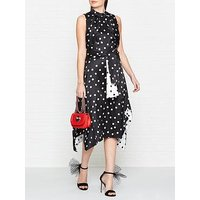 Hugo Kamali Sleeveless Polka Dot Dress - Black