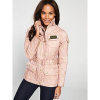 Barbour International Barbour International International Quilted Jacket, Pale Pink, Size 16, Women