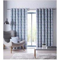 Product photograph showing Studio G Tenby Eyelet Curtains - Indigo