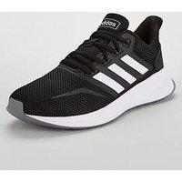 adidas Runfalcon - Black/White , Black/White, Size 8, Women