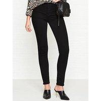 J Brand Alana High Rise Skinny Jeans - Seriously Black