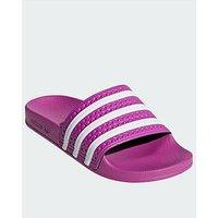 adidas Originals Adilette - Pink/White , Pink/White, Size 8, Women