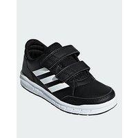adidas Altarun Cf Junior Trainers, Black/White, Size 5