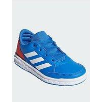 adidas Altasport Junior Trainers, Blue/White, Size 5