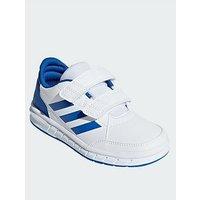 adidas Altasport Cf Junior Trainers, White/Blue, Size 12