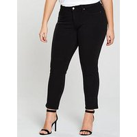 Levi's 311™ Shaping Skinny Jeans - Black, Ultra Black, Size 22, Inside Leg Regular, Women