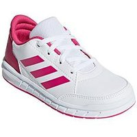 adidas Altasport Junior Trainers, White/Pink, Size 13