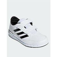 adidas Altasport Cf Junior Trainers, White/Black, Size 1