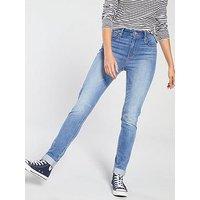 Levi's 721™ High Rise Skinny Jeans - Blue, Steal My Sunshine, Size 29, Inside Leg 32, Women