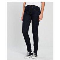 Levi's 721™ High Rise Skinny Jeans - Black, To The Nine, Size 28, Inside Leg 30, Women
