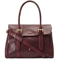 Joules Oxblood Leather Tote Bag, Oxblood, Women
