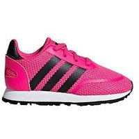 adidas Originals N-5923 Infant Trainers, Pink/Black, Size 8