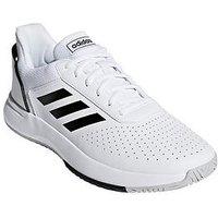 adidas Courtsmash Trainers - White, White/Black, Size 7, Men