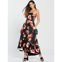 V by Very Printed Prom Dress - Floral, Print, Size 10, Women