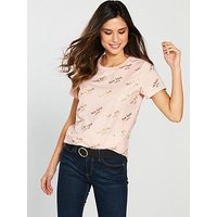 V by Very New York T-Shirt - Pink, Pink, Size 16, Women