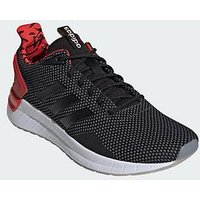 adidas Questar Ride Trainers - Black/White/Red, Black/White/Red, Size 7, Men