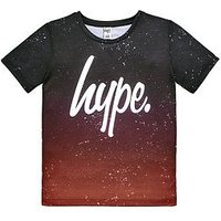 Hype Boys Short Sleeve Red Ombre T-Shirt, Red, Size 3-4 Years