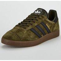 adidas Originals Gazelle, Khaki/Black, Size 10, Men
