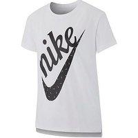 Nike Girls Nsw Icon Futura Tee, White, Size S=8-10 Years, Women