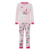 Monsoon Avery Jersey Pj, Pink, Size 11-12 Years, Women