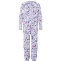 Monsoon Cara Jersey Sleepsuit, Lilac, Size 11-12 Years, Women