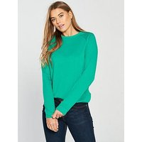 V by Very Loop Back Basic Sweat, Green, Size 18, Women