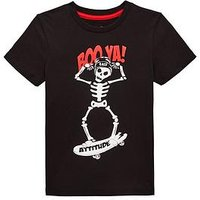 Boys, Mini V by Very Booya Skeleton T-shirt, Multi, Size Age: 12-18 Months