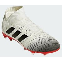 adidas Adidas Junior Nemeziz 18.3 Firm Ground Football Boot, White, Size 13