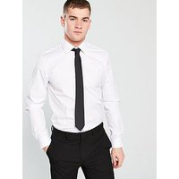 Calvin Klein Cannes Fitted Shirt - White, White, Size 17, Men