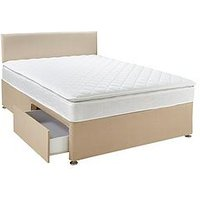 Airsprung Calie Pillow Top Divan Bed With Storage Options, Headboard And Next Day Delivery