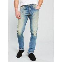 Tommy Jeans Ryan Straight Fit Jean, Mid Wash, Size 38, Inside Leg Regular, Men