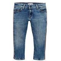 Tommy Hilfiger Girls Lana Striaght Crop Jean, Denim, Size Age: 7 Years, Women