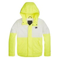Tommy Hilfiger Boys Fluro Lightweight Hooded Jacket - Yellow, Yellow, Size Age: 6 Years