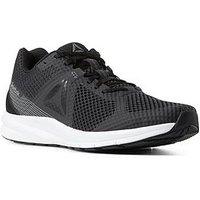 Reebok Endless Road Trainers - Black/White, Black/White, Size 10, Men