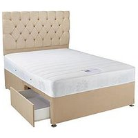 Hush From Airsprung New Astbury Memory Double Divan - Next Day Delivery
