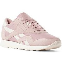 Reebok Classic Nylon - Pink , Pink/White, Size 3, Women