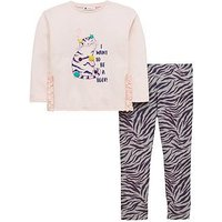 Mini V by Very Toddler Girls Tiger Tee and Legging Set - Multi, Multi, Size Age: 3-6 Months, Women