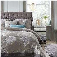 Product photograph showing Ideal Home Poetic Reflection Jacquard Duvet Cover Set