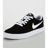 Nike Sb Check Solar - Black/White , Black/White, Size 4, Women